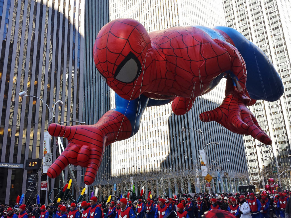 Spiderman balloon in the Macy's Thanksgiving Day Parade 2013 - by gigi_nyc