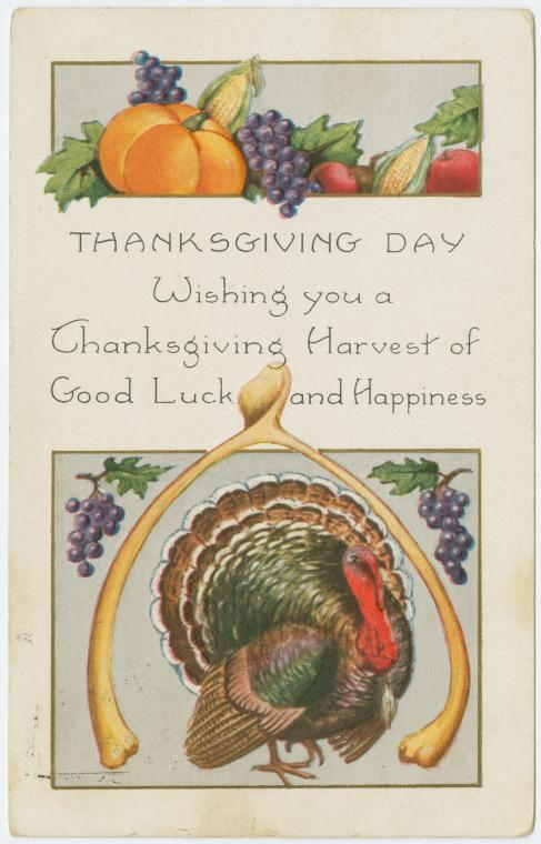 Thanksgiving harvest of good luck and happiness