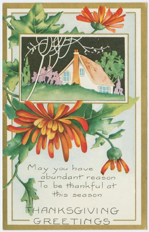 Vintage Thanksgiving postcard - Thanksgiving greetings3