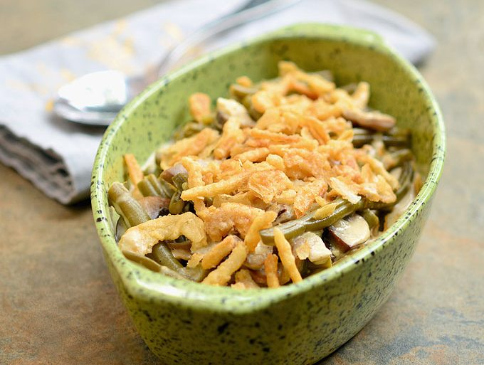 green bean casserole in the crock pot