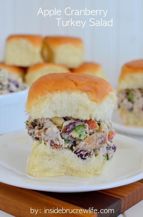 make turkey salad on those leftover thanksgiving rolls