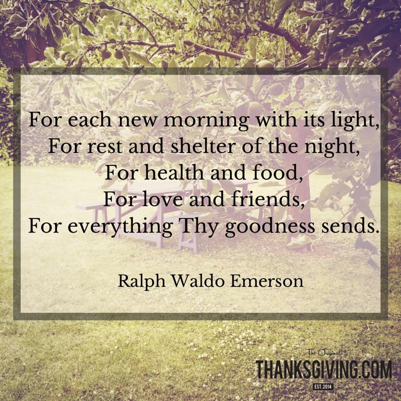 Ralph Waldo Emerson Thanksgiving Quote