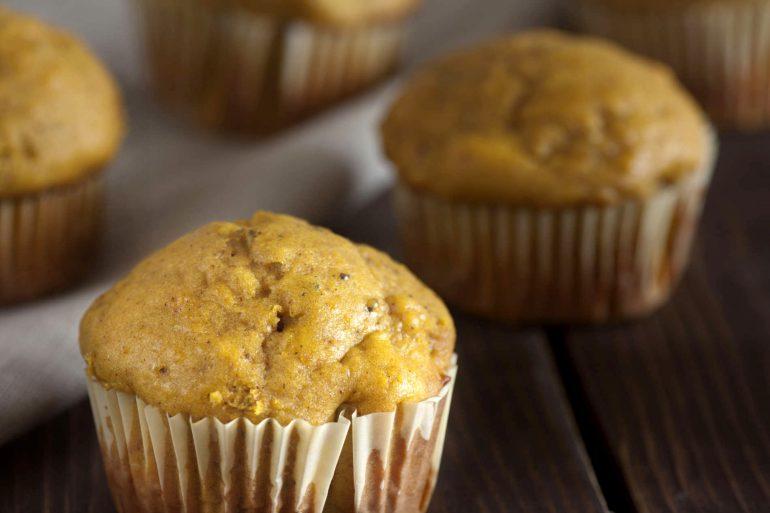 Golden squash muffins