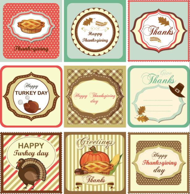 Printable Thanksgiving tags