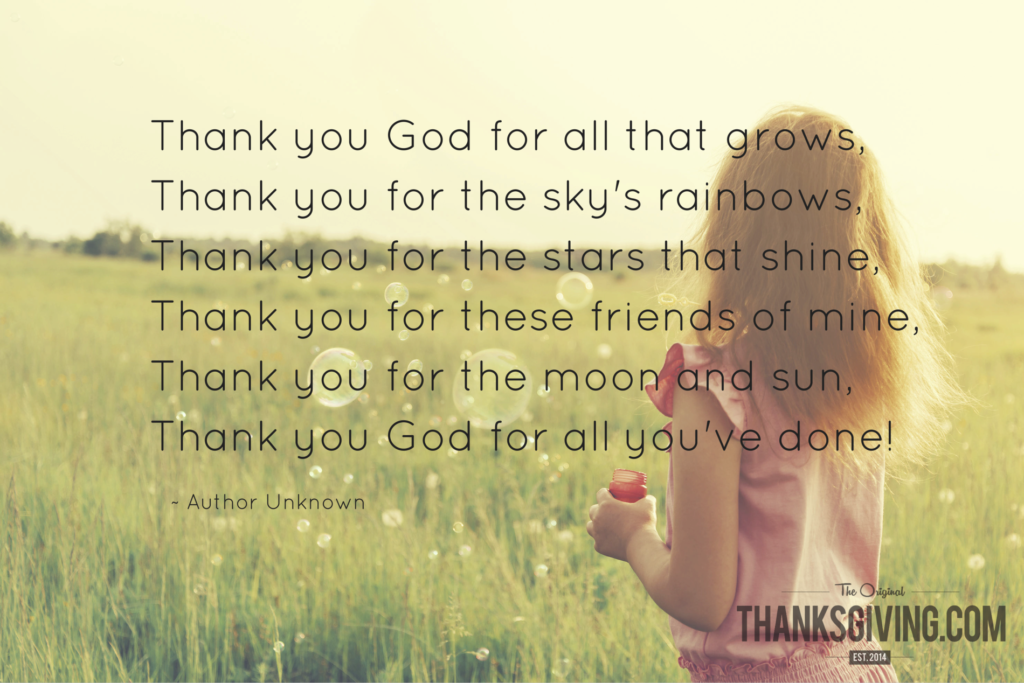 Thanksgiving Children's Prayer