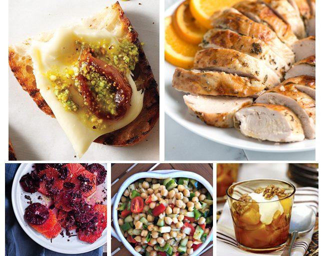 Thanksgiving Dinner Menu - Mediterranean Style