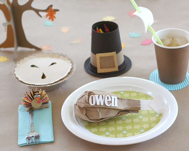 Thanksgiving place card craft for kids
