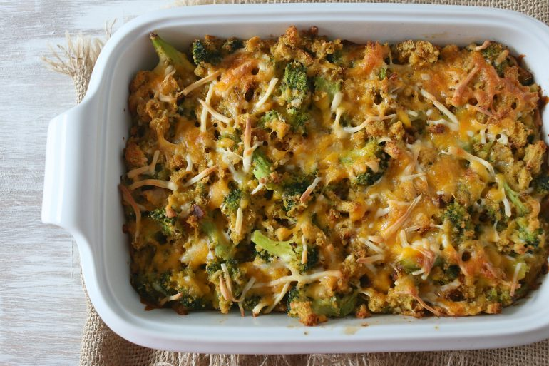 Thanksgiving stuffing with broccoli and cheddar   Thanksgiving.com