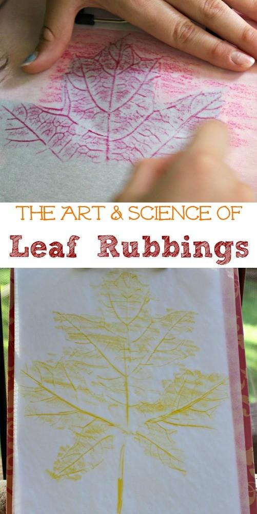 leaf rubbing crafts for kids