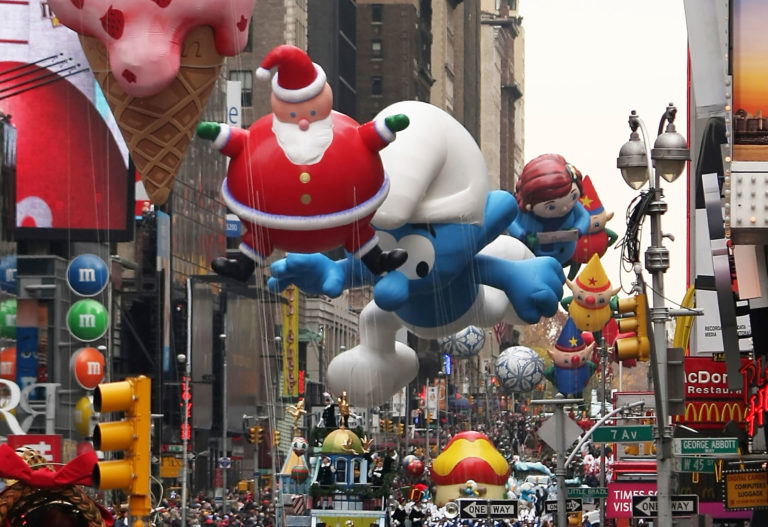 10 Pictures of balloons from the Macy's Thanksgiving Day Parade