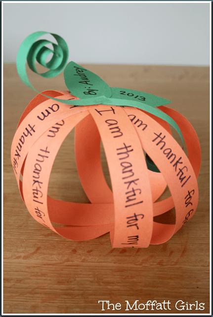 thankful pumpkin craft for kids