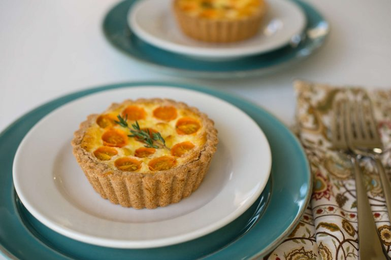 Tomato tart makes a great Thanksgiving appetizer or side dish | Thanksgiving.com