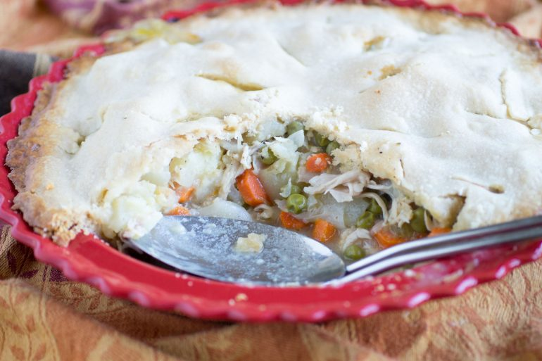 A great way to use up all that leftover turkey! Try Turkey Pot Pie from Thanksgiving.com