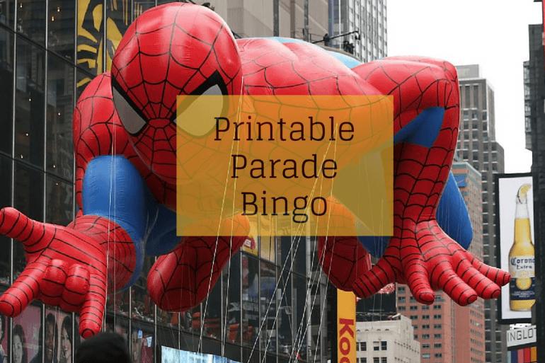 Printable Parade Bingo from Thanksgiving.com