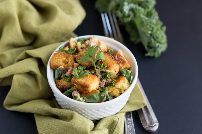 Chorizo and Kale Stuffing recipe for Thanksgiving side dish from Thanksgiving.com
