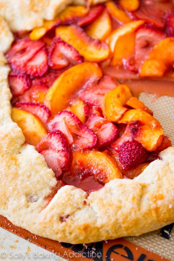 Rustic Strawberry Peach Tart