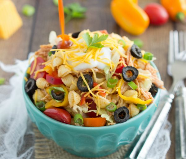 pasta salad with taco flaovors