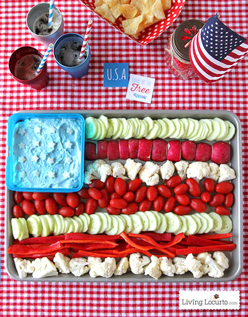 American flag veggie tray