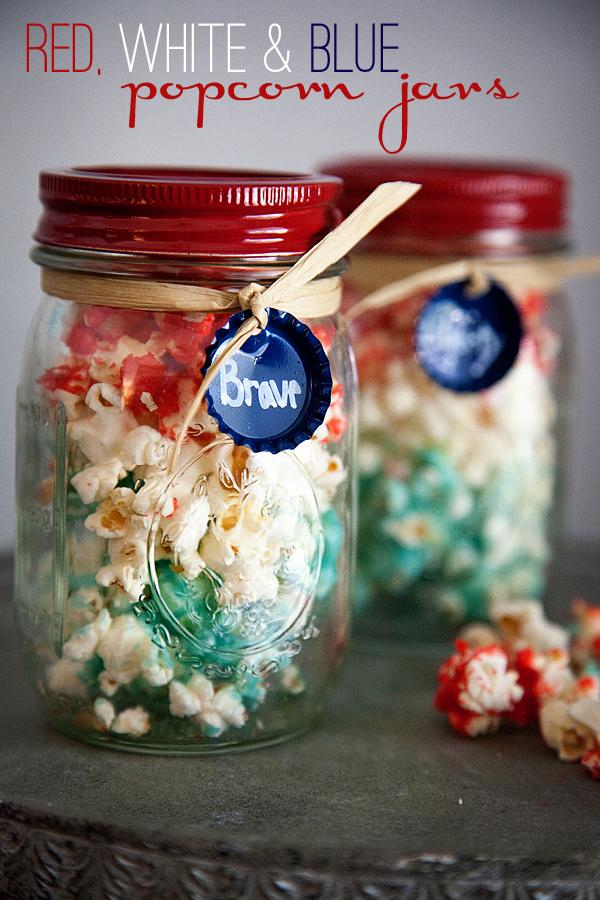 Memorial Day popcorn jars