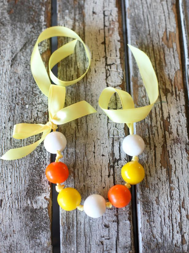 Halloween gumball necklace