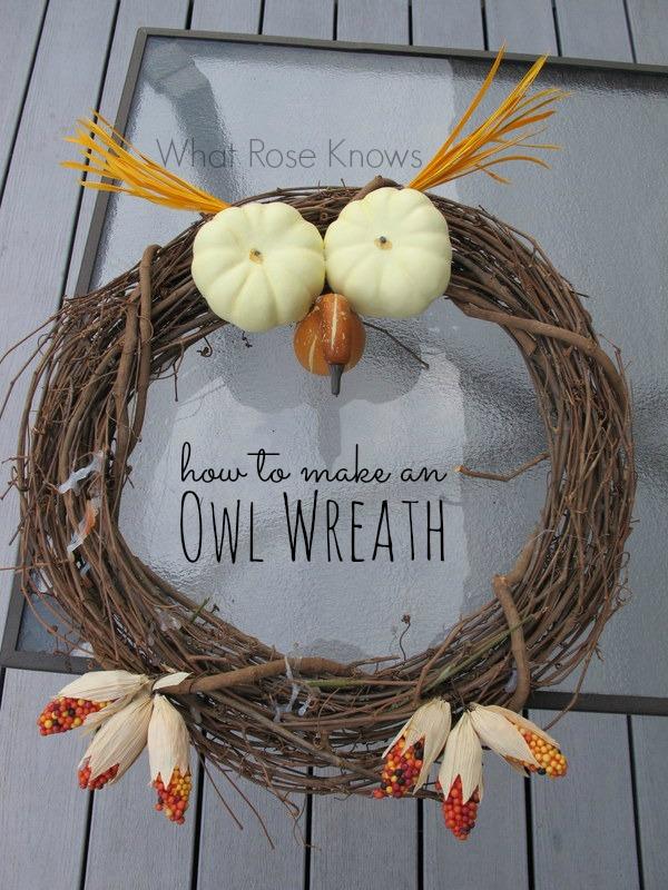 DIY Halloween owl wreath