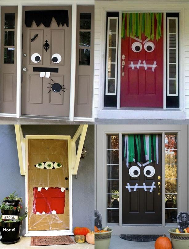 Halloween monster door