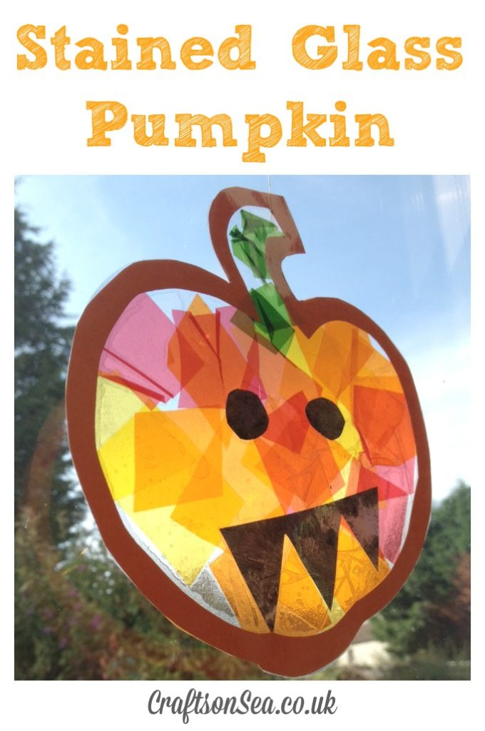 Stained Glass Pumpkin craft