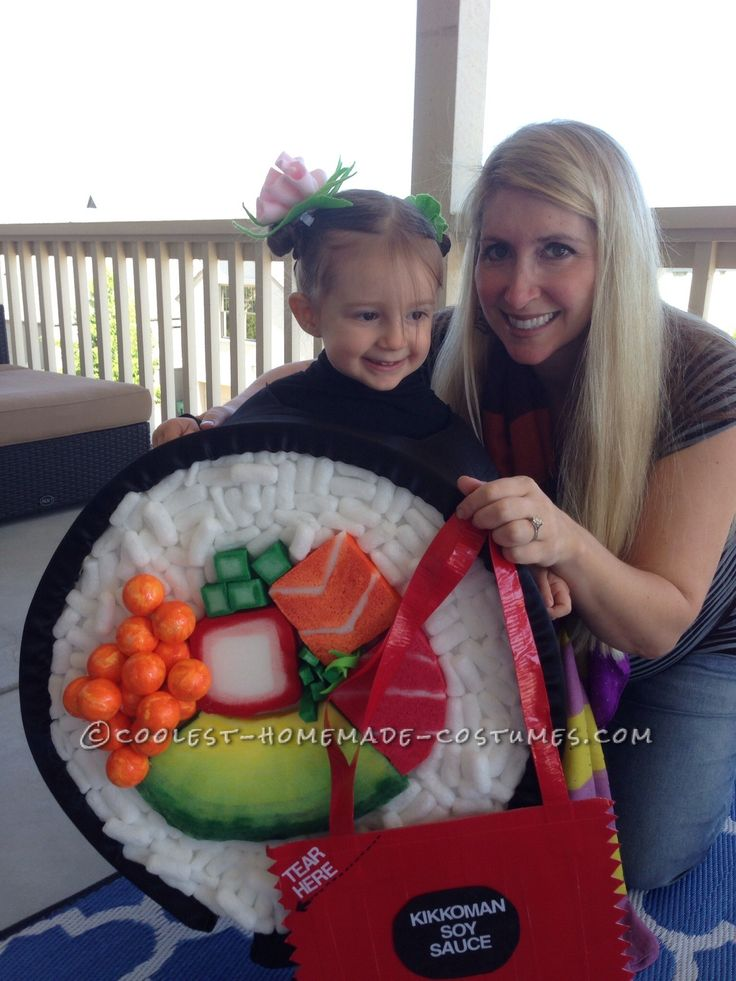 Sushi roll Hallowee costume for toddler