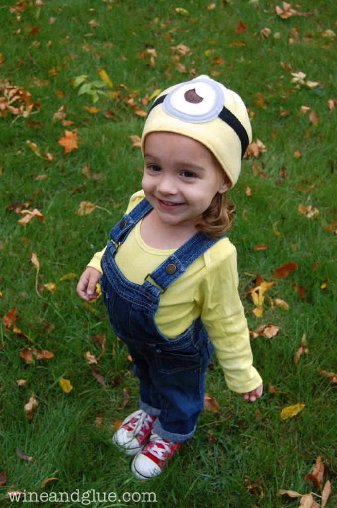 minion DIY toddler halloween costume