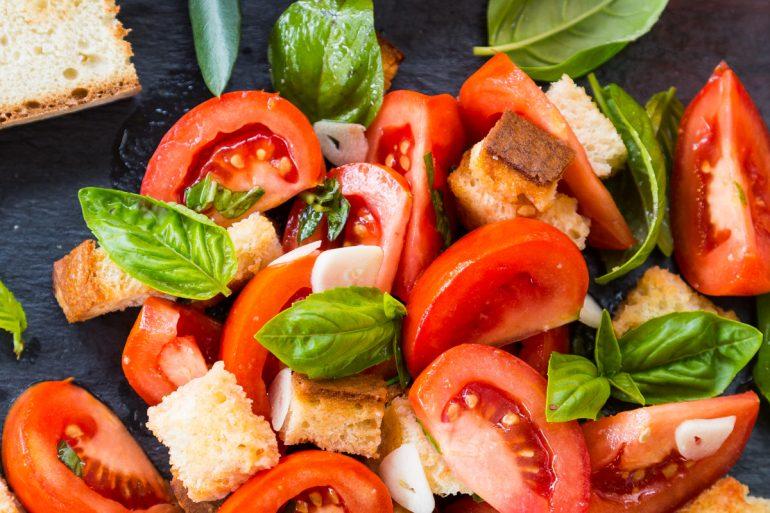 Fresh Bruschetta Salad as a Thanksgiving side dish | Thanksgiving.com