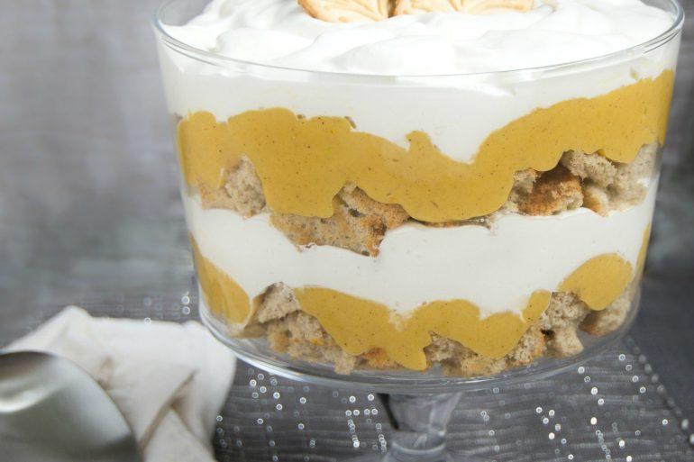 Pumpkin pie trifle for Thanksgiving dessert   Thanksgiving.com