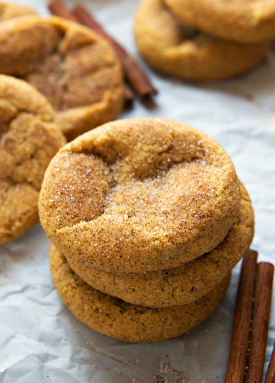 Soft and Chewy Pumpkin Snickerdoodle Cookies | Thanksgiving.com