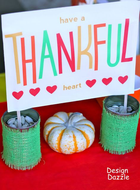 Thankful heart craft