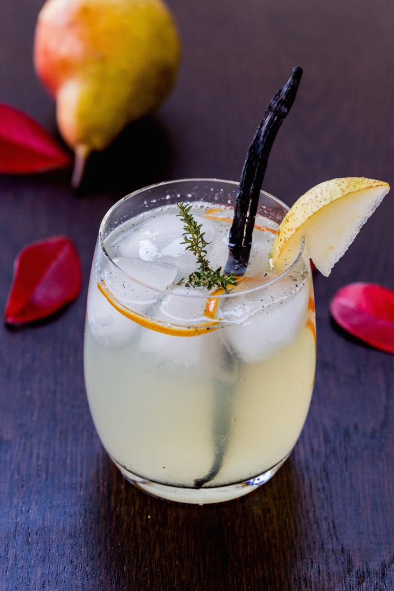 Vanilla Pear Rum Cocktail   Thanksgiving.com