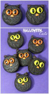 3 Halloween Black Cat Cookies