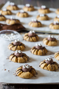 4 Chocolate Peanut Butter Spider Cookies for Halloween