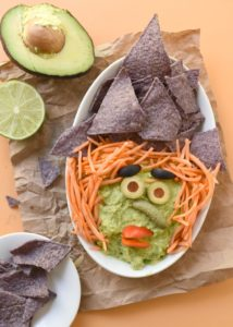 Witchy Guacamole Dip for Halloween