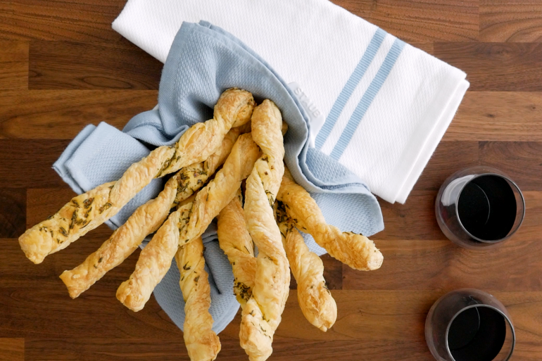 Thanksgiving Twisted Rosemary Bread Sticks