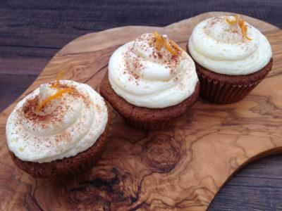 Citrus Cream Frosted Orange Spice Cupcakes