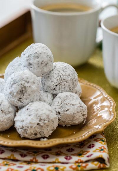 Best Chocolate-Kahlua snowball cookie recipe