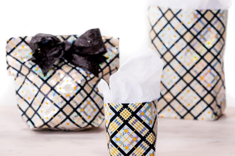 Gift bag from wrapping paper