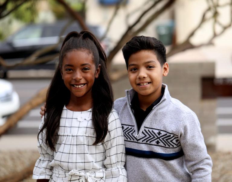 Kids at Thanksgiving celebration