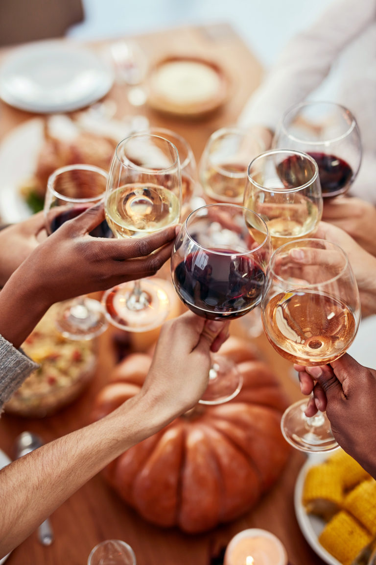 Raising a toast - Cheers!