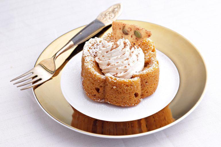 Pumpkin Spice Cake with Mascarpone Cream