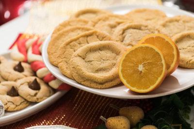 Orange cinnamon maple doodle cookies