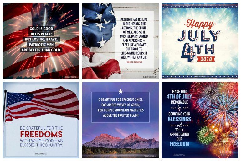 18 patriotic 4th of July blessings - greetings