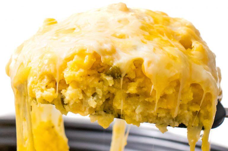 cheesy cornbread pudding