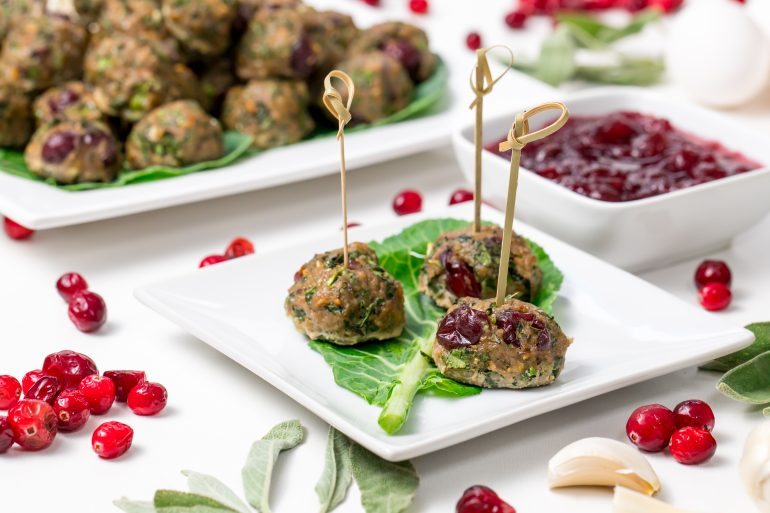 5D4B4685 - Turkey cranberry meatballs