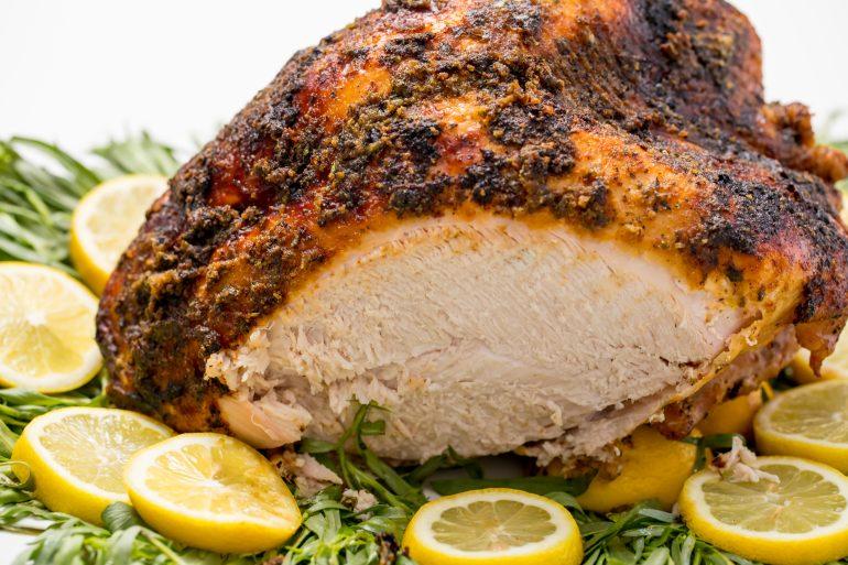 Tender and juicy grilled turkey breast