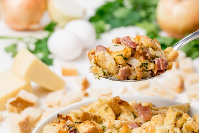 5D4B6375 - Ham, Gruyere Onion Stuffing